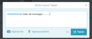finestra twitter